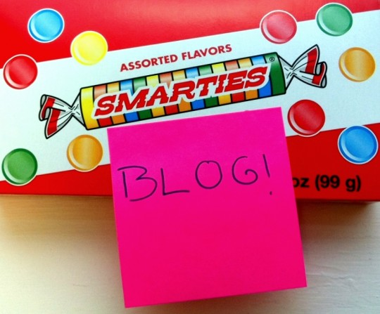 Smarties Theater Box with Blog Note