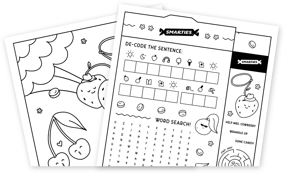 Kid's activity book pages