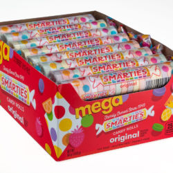 Smarties Mega Rolls in tray 24 count